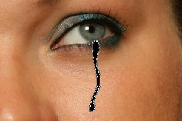 Как создать реалистичные слезы в Photoshop