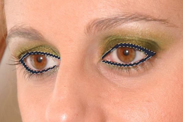 Имитация вечернего макияжа глаз в Photoshop