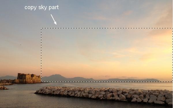 Создаем фотоколлаж красивого пейзажа на восходе солнца