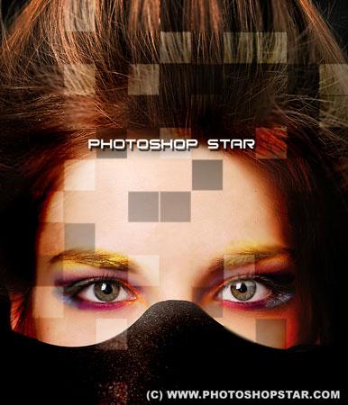 Необычный эффект стилизации фотографии фрагментами
