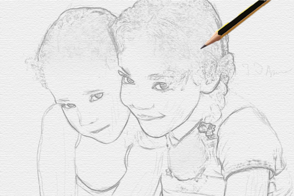 Превращение фотографии в карандашный рисунок - Photoshop