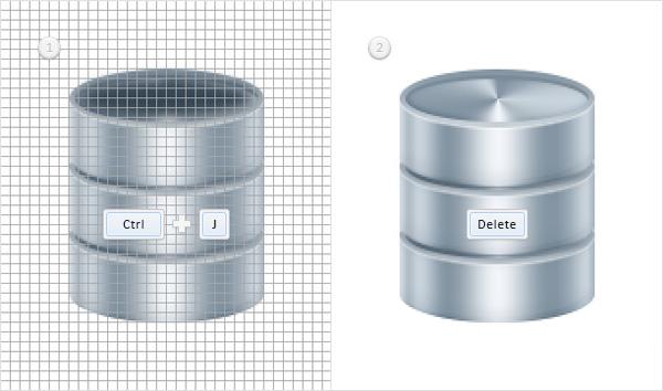 Создаем простой значек базы данных в Adobe Photoshop
