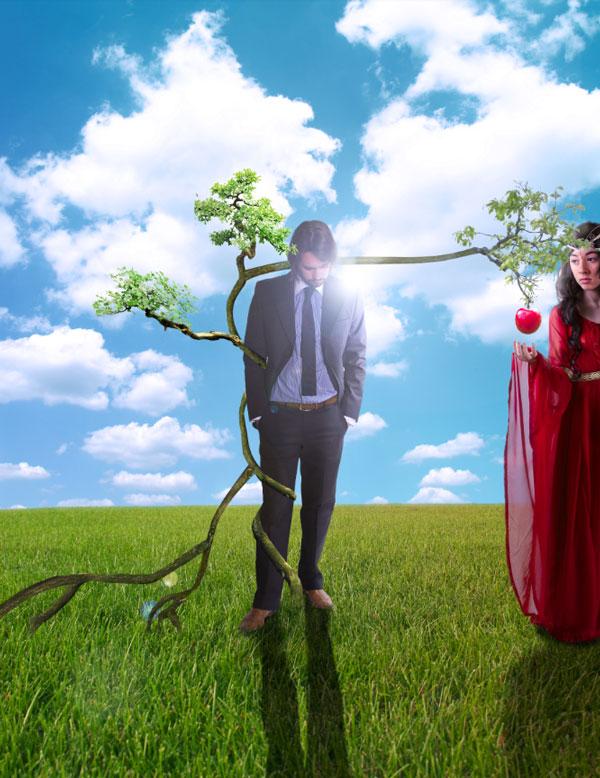 Создание картины Адама и Евы (Часть 2)