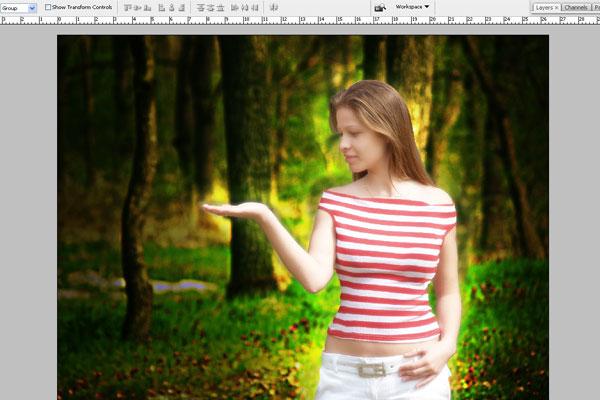 Создаем лесную фею, используя художественную обработку фотографии