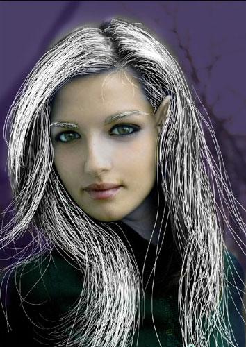 Превращаем девушку в Темного эльфа