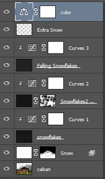 Учимся добавлять снег на фотографию в Photoshop