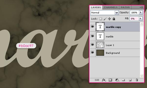 Учимся создавать мраморный текстовый эффект