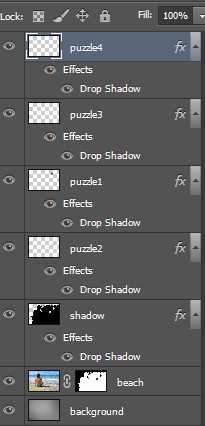 Учимся создавать эффект паззла в Photoshop
