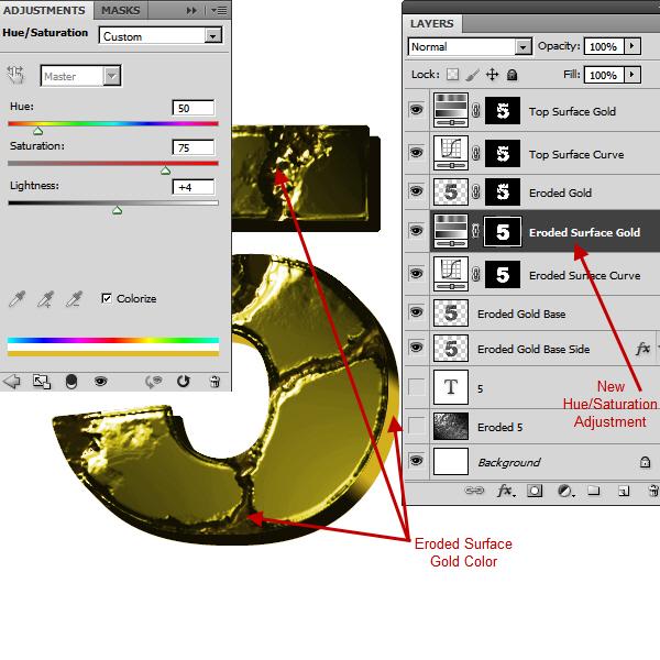 Создаем эффект разъеденного золота в Photoshop