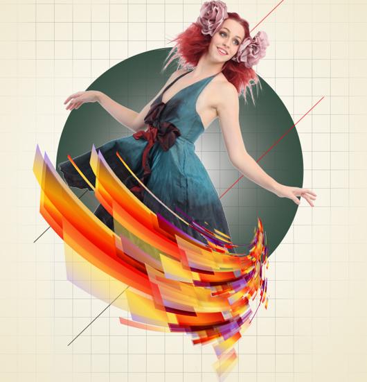 Создание красочной модной фотографии