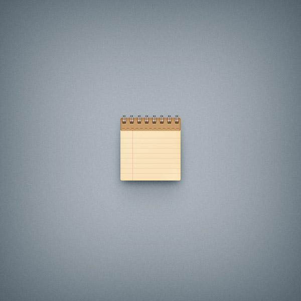 Создание простого значка блокнота в Adobe Photoshop