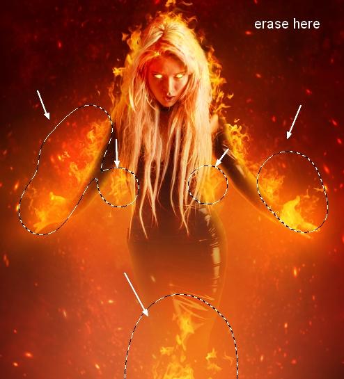 Создание огненного портрета в стиле фэнтези из фотографии