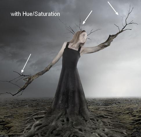 Создаем фантазийную женщину-дерево в Photoshop