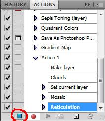 Как создать эффект мозаики в Photoshop