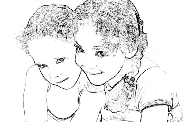 Превращение фотографии в карандашный рисунок