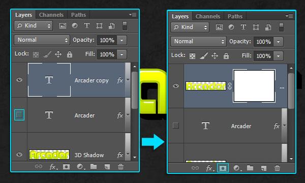 Как создать аркадный текстовый эффект