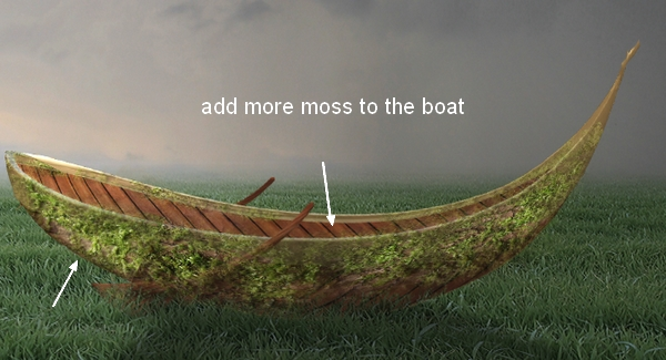 Создаем фантазийный коллаж с лодкой