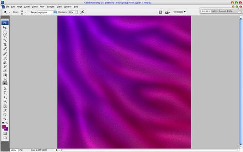 Тканевая текстура с эффектом хамелеона
