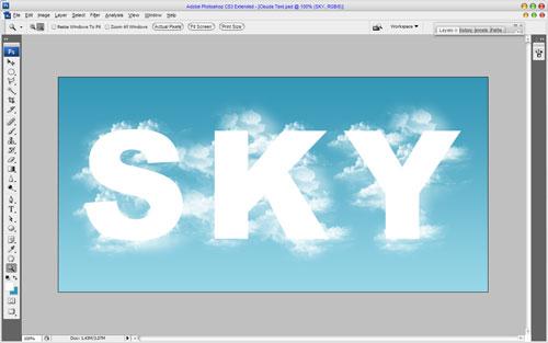 Текст и фигуры из облаков