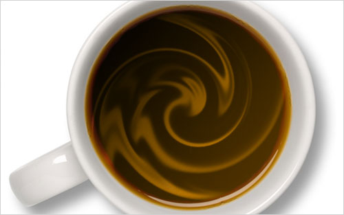 Создание сливок для кофе в Photoshop