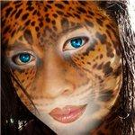 Как добавить кожу ягуара на лицо женщины
