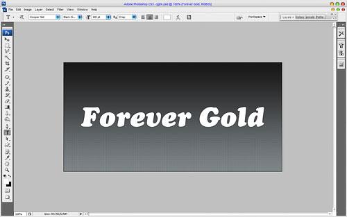 Роскошный золотой эффект для текста