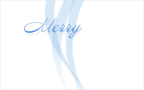 Рождественская открытка в деловом стиле