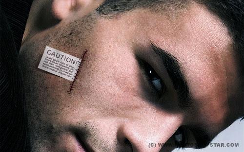 Добавление ярлыка на кожу