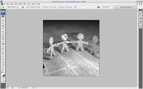 Создание увеличительного стекла в Photoshop