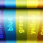 Разноцветные обои с трехмерным эффектом радуги