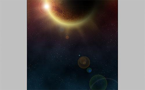 Воссоздание солнечного затмения в космосе