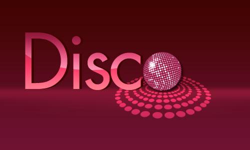 Логотип в стиле диско
