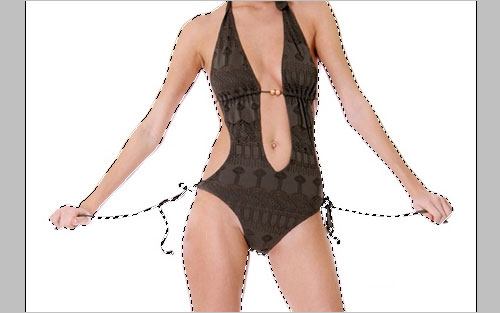 Интересный эффект прозрачности на одежде