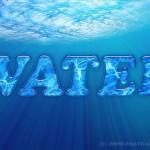 Интересный водный эффект для текста